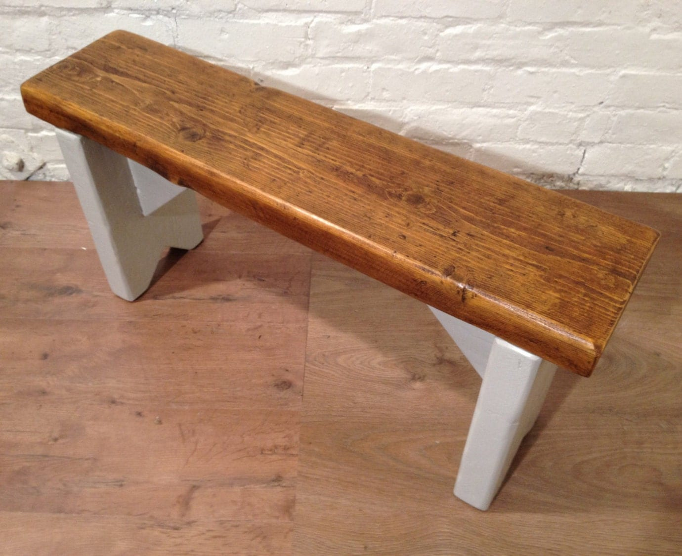 February SALE British Fu0026B Painted 3ft Rustic Reclaimed Old Pine Dining  Plank Table Chair Bench   Village Orchard Furniture