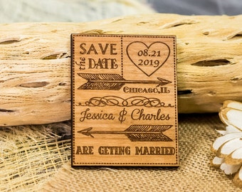 heart save the date magnet 10/ wood save the date / wooden save the date magnet