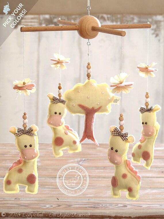 Giraffe Baby Mobile Hanging Giraffe Nursery Decor By