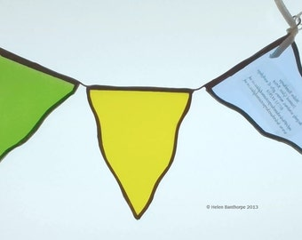 Stained Glass Bunting Window Hanger