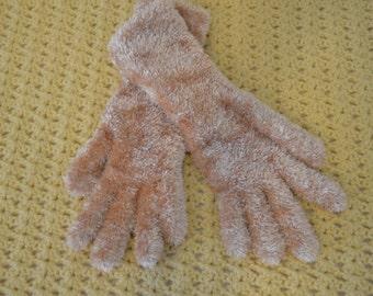 Gold Chenille Gloves