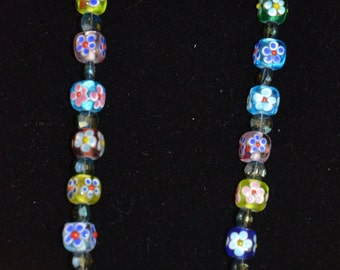 Square Flower Beads