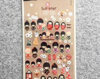 "50% sale! Cute stickers ""Kokeshi"""