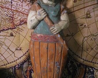 Neptune/Poseidon Hand-Carved Wall Hanging
