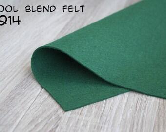 Wool Blend Felt Emerald