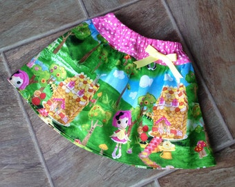 SALE, Lalaloopsy Skirt, Girls Lalaloopsy Skirt, Lalaloopsy Birthday, Crumbs Sugar Cookie, Girls Lalaloopsy, ONLY ONE size 3T available