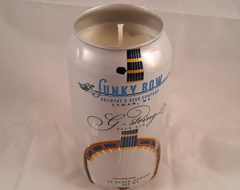 Funky Bow G-String Can Candle, YOU PICK SCENT! No Sharp Edges! Maine made