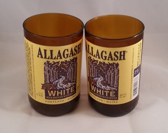 Allagash White Beer Bottle Drinking Glass Set of 2