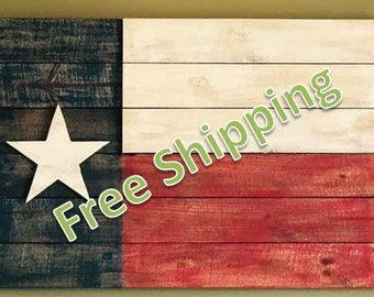 Rustic Texas Flag Constructed From Reclaimed/Repurposed Wood (Free Shipping)