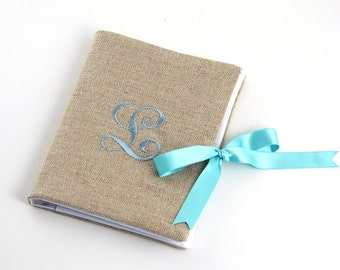 Personalized Photo Album // Monogrammed Brag Book // Monogrammed Photo Album // Linen Photo Album // Personalized Wedding Album