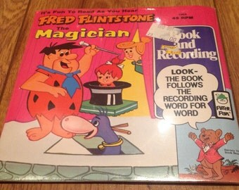 The Flintstones Fred Flintstone The Magician Record And Book