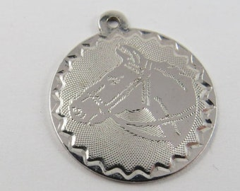 Thoroughbred Horse's Head Sterling Silver Charm or Pendant.