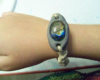 Labradorite Hemp Bracelet