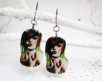 fashion earrings polymer clay earrings  trending earrings polymer clay jewelry gift ideas