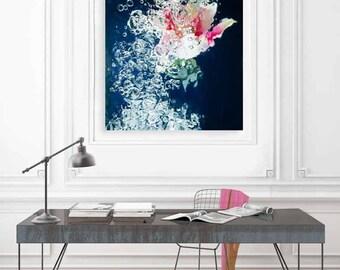 Large Flower Print, Botanical Art, Large Wall Art, Lily Wall Art by Jessica Kenyon