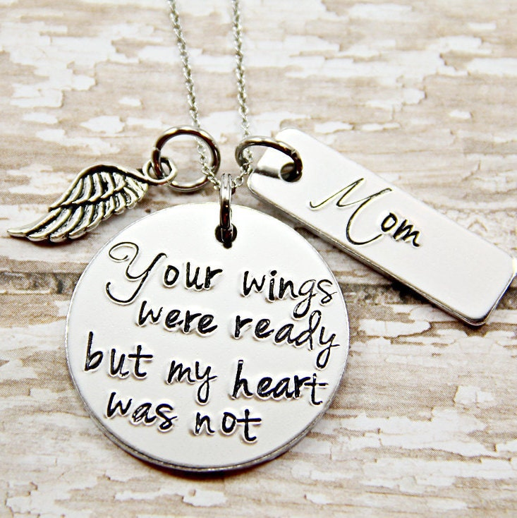 Memorial Jewelry Your Wings Were Ready My Heart Was Not