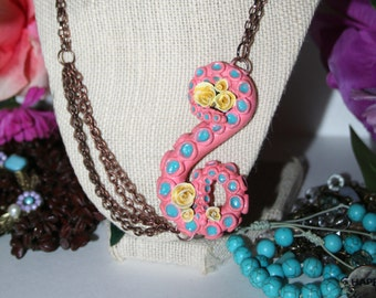 Whimsical Tentacle Necklace (Pink)