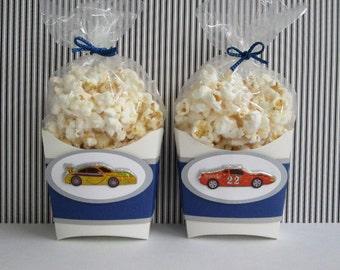 Race Car Favor Boxes, Favor Boxes, Birthday Favor Boxes, Boys Race Car Favor Boxes, Race Car Popcorn Boxes, Car Party Favors, Party Favors