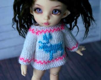 christmas sweater for pukifee bjd dolls dress deer