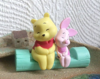 Winnie the pooh and piglet miniature doll disney toy