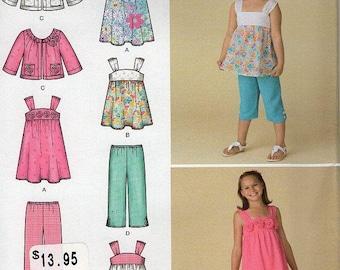 FREE US SHIPSimplicity 2469 Girls Dress top Jacket Shorts Blouson Capris Size 3 4 5 6 Sewing Pattern Uncut New
