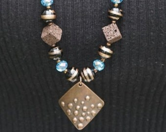 BROWN LAVA and PENDANT