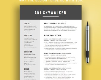 Creative Resume Template | Creative CV Design For Word | Simple Resume  Template Design | Instant