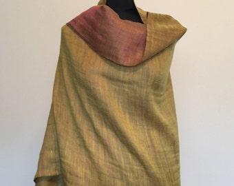 Folklorica Pure Pashmina Zari Reversible Handwoven 100% Cashmere Stole Shawl Scarf Wrap