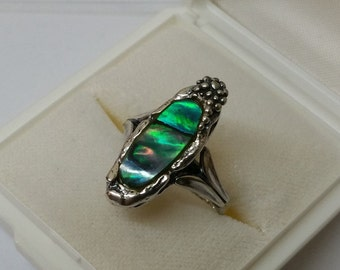 Ring silver 835 with abalone shell 18.2 mm SR449