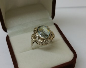 Art Nouveau ring silver 830 vintage antique old SR732