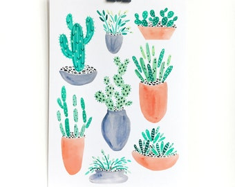 Plants in Pots Print