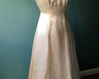 Ivory Satin Bridal Gown, Satin  Slip Dress, Ladies Size Small, Wedding Gown, Wedding Dress, Formal Dress