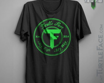 Super Soft & Comfortable Turtle Face Original Logo Tee, Men's and Women's Short Sleeve Graphic T-shirt, Great Concert Tshirt