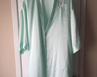 Beautiful, sea foam green silk robe