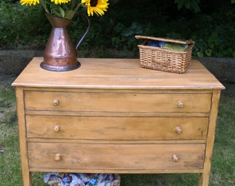 Free UK Delivery - Vintage yellow drawers. Sale price 25% off original price