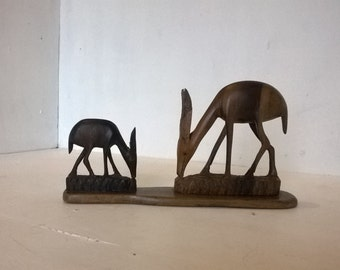 Wooden dee r/ gazelle / antelope carving / statue / ornament, African, mid century
