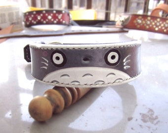 Totoro leather collar