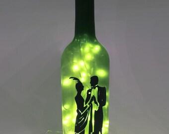 Charleston Wine Bottle Lamp / Romantic / 1920s / Ballroom / Gifts for Men / Gift Ideas