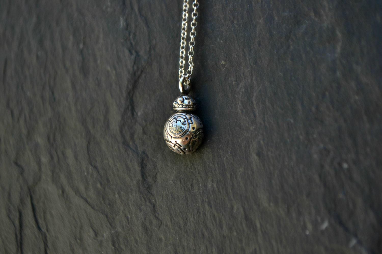 bb 8 wars necklace jewelry bb 8 droid jewelry by