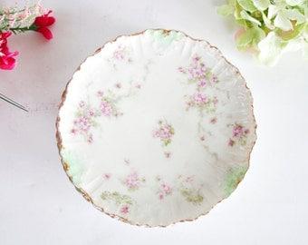 Antique Limoges France Bread Plate - Floral Plate, Small plate, Vintage Plate, Wall Plate, Decorative Plate, French Plate