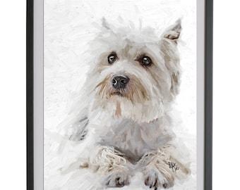 West Highland Terrier art Westie Terrier Dog Highland Terrier Westie dog dog print art print westie terrier west dog breed pets gift westie