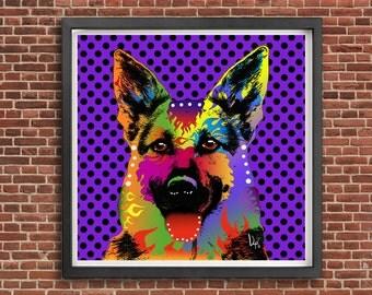Pop Art Print Modern art Pop art print art wall art vintage modern home decor pop art portrait pop art poster home decor wall decor portrait