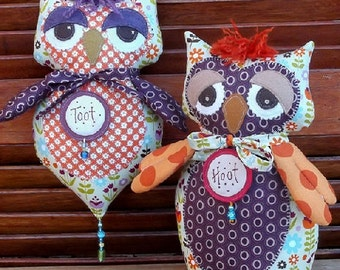 Hoot and Toot Doll Pattern by Annie Smith Designs