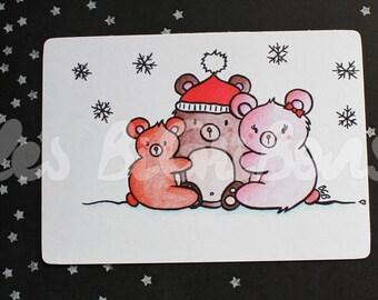 Small bear greeting card