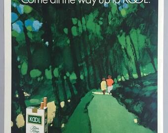 1971 Kool Cigarettes Print Ad - Illustrated