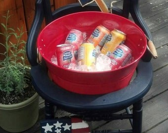 Backyard Decor, Drink Station, Drink Stand, Outdoor Furniture, Outdoor Chair, Upcycle Chair, Drink Holder