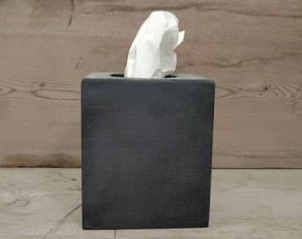Chalkboard Tissue Box, Wood Tissue Box Cover, Tissue Box Cover Wood, Wooden Tissue Box Cover, Tissue Box Holder, Chalkboard Decor