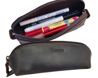EL BURRO leather pouch pencil case, Pencil Pouch pencil case molt make-up bag Pencilcase