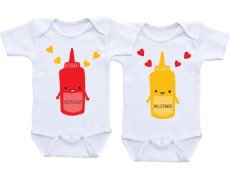 Twin onesies gifts for twins boy girl matching clothing twins baby gift twin baby clothes twins baby gift boy girl twin outfits baby twins
