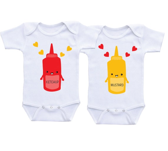 Twin onesies gifts for twins boy girl matching clothing twins